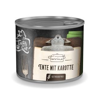 TastyCat Terrine Ente mit Karotte 180g.