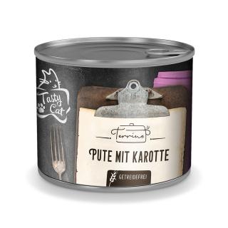 TastyCat Terrine Pute mit Karotte 180g.