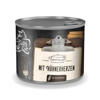 TastyCat Terrine Hühnerherzen 180g.