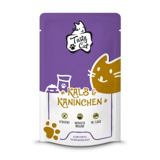 TastyCat Kalb & Kaninchen 125g.